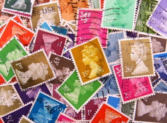 UK Postage Stamps – Queen in Multicolors from thriftypyg