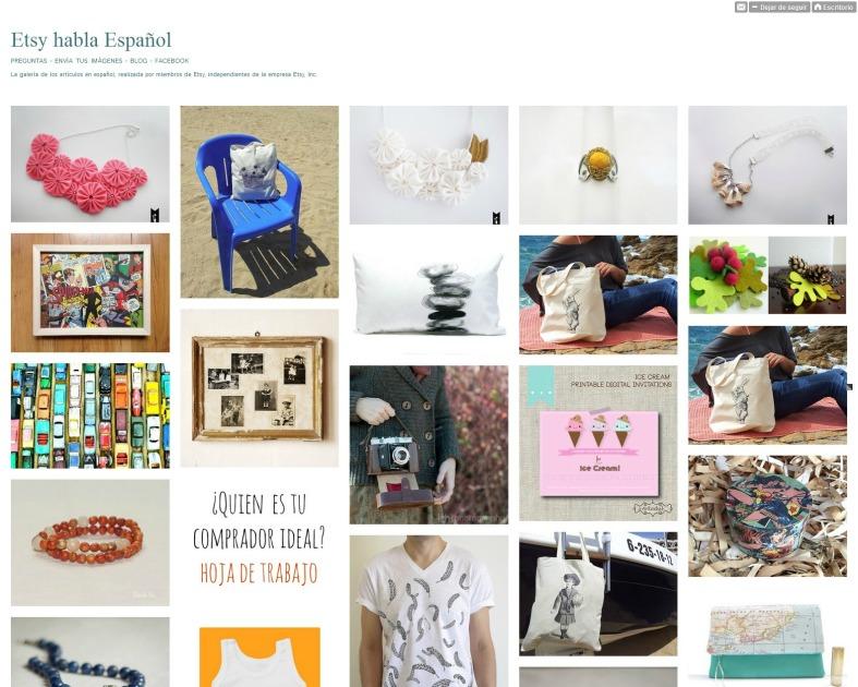 Tumblr de Etsy habla Español
