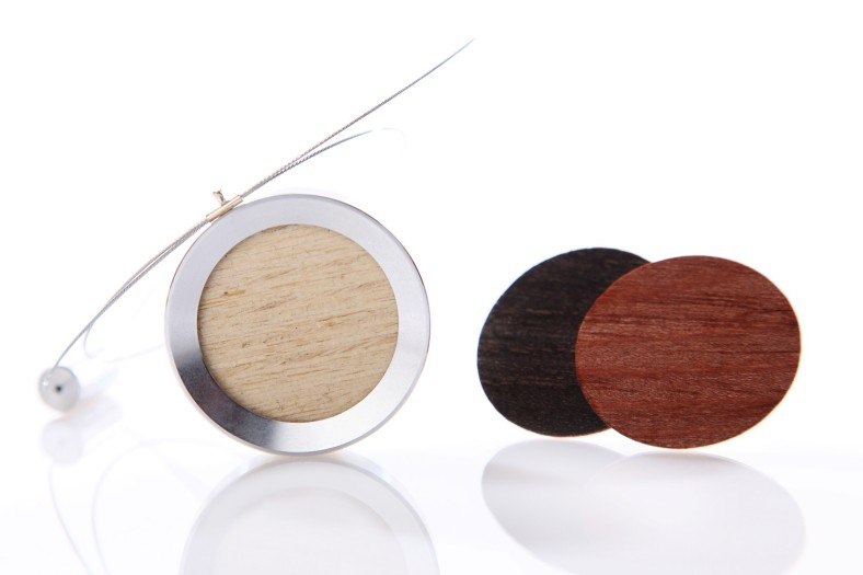 Pop Necklace Wood - 3 interchangeable Wood Shades por ISKIN