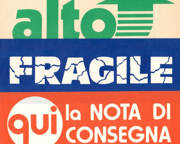 3 Vintage italian mail labels from 1960s de StupidFlamingo