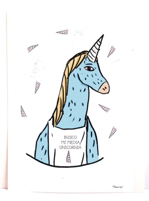 Print Looking for my half Unicornia de Elflamencoazul