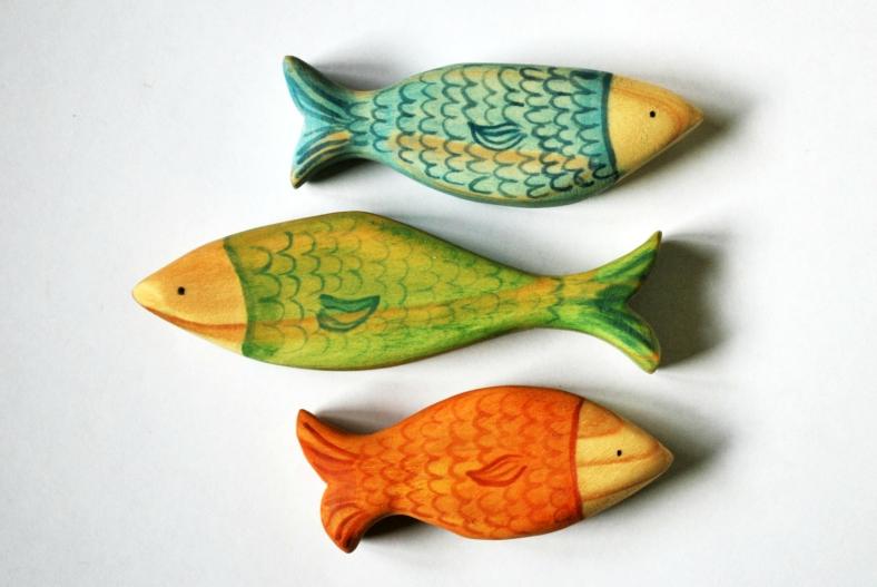 Pez AZUL VERDE o NARANJA, set de Animales del Oceano  de JuguetesEloisa