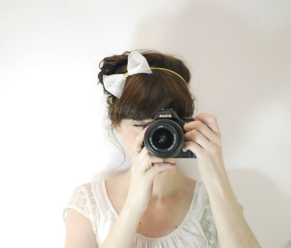 White tulle headband de Fitzberries