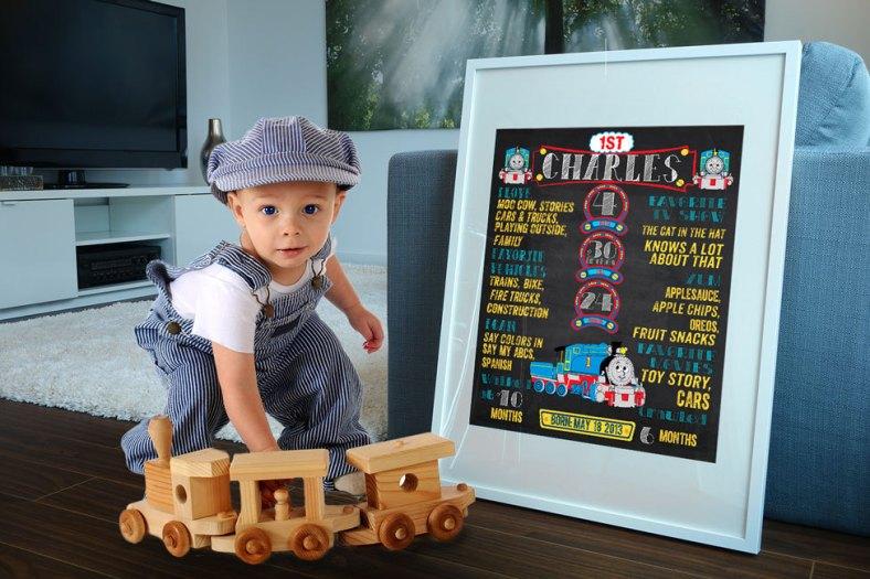 The First Birthday Chalkboard de Ladyfromsundesigns