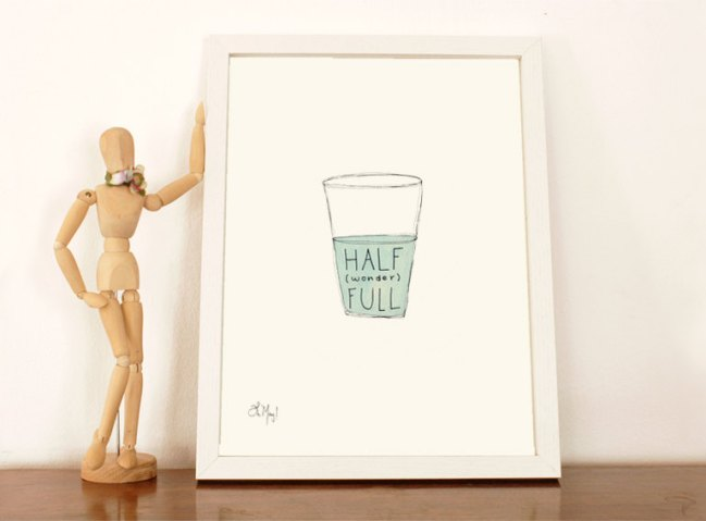 Half Wonder Full - A4 print by VictoriaOMay
