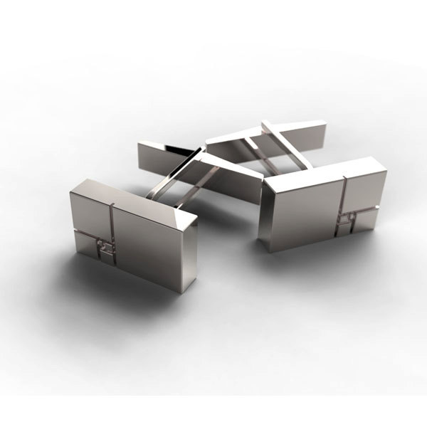 Golden Ratio Silver Cufflinks by ArteJoyasJewellery