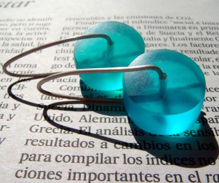 Sea resin earrings by dikua