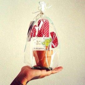 Cactus Gift. Patchwork Fabric. de momokashop